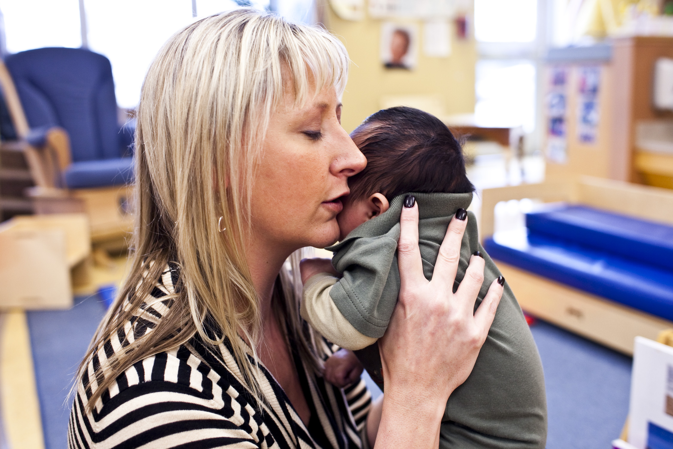 Teacher and infant at Educare Denver