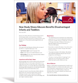 Image of Educare study fact sheet